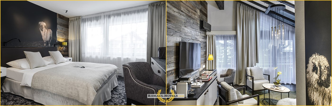 rideaux chambre hotel ignifuge anti feu m1