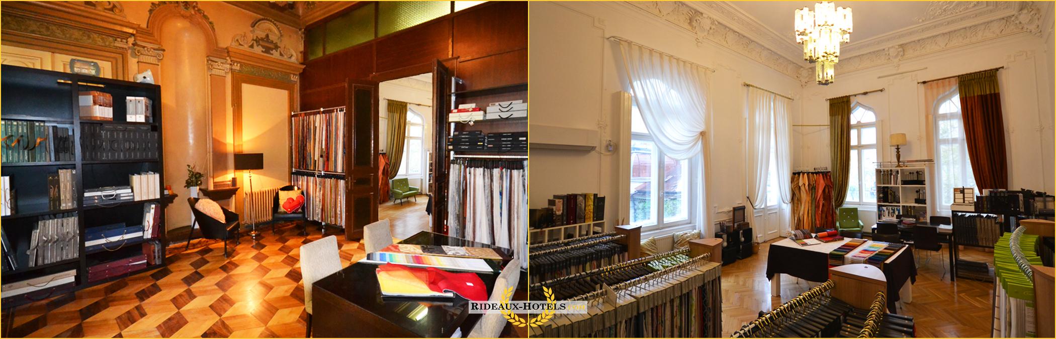 Rideaux Hotels Professionnels Showroom