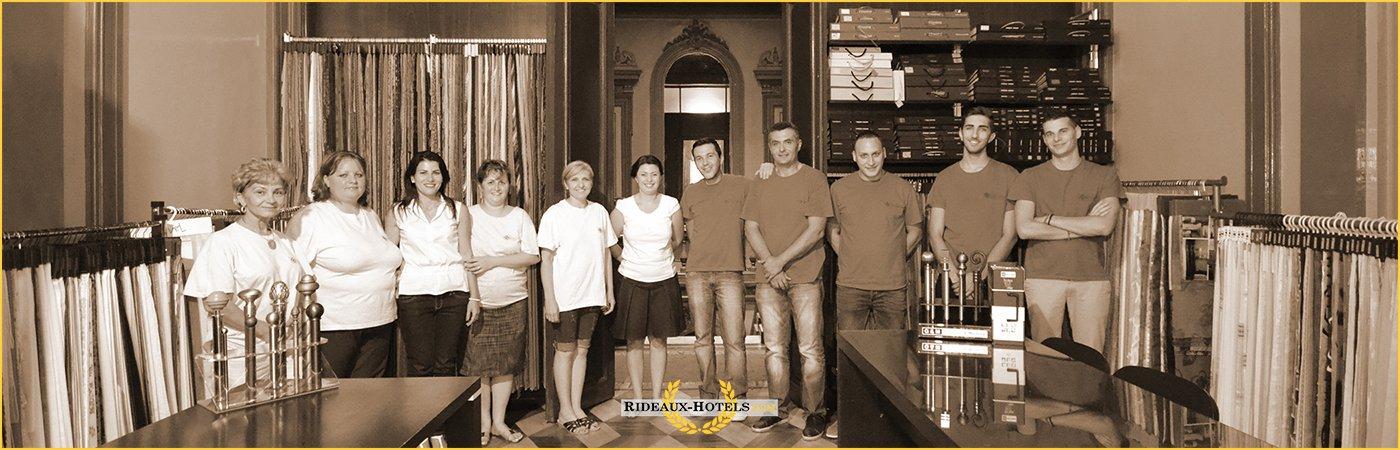 equipe entreprise rideaux hotels