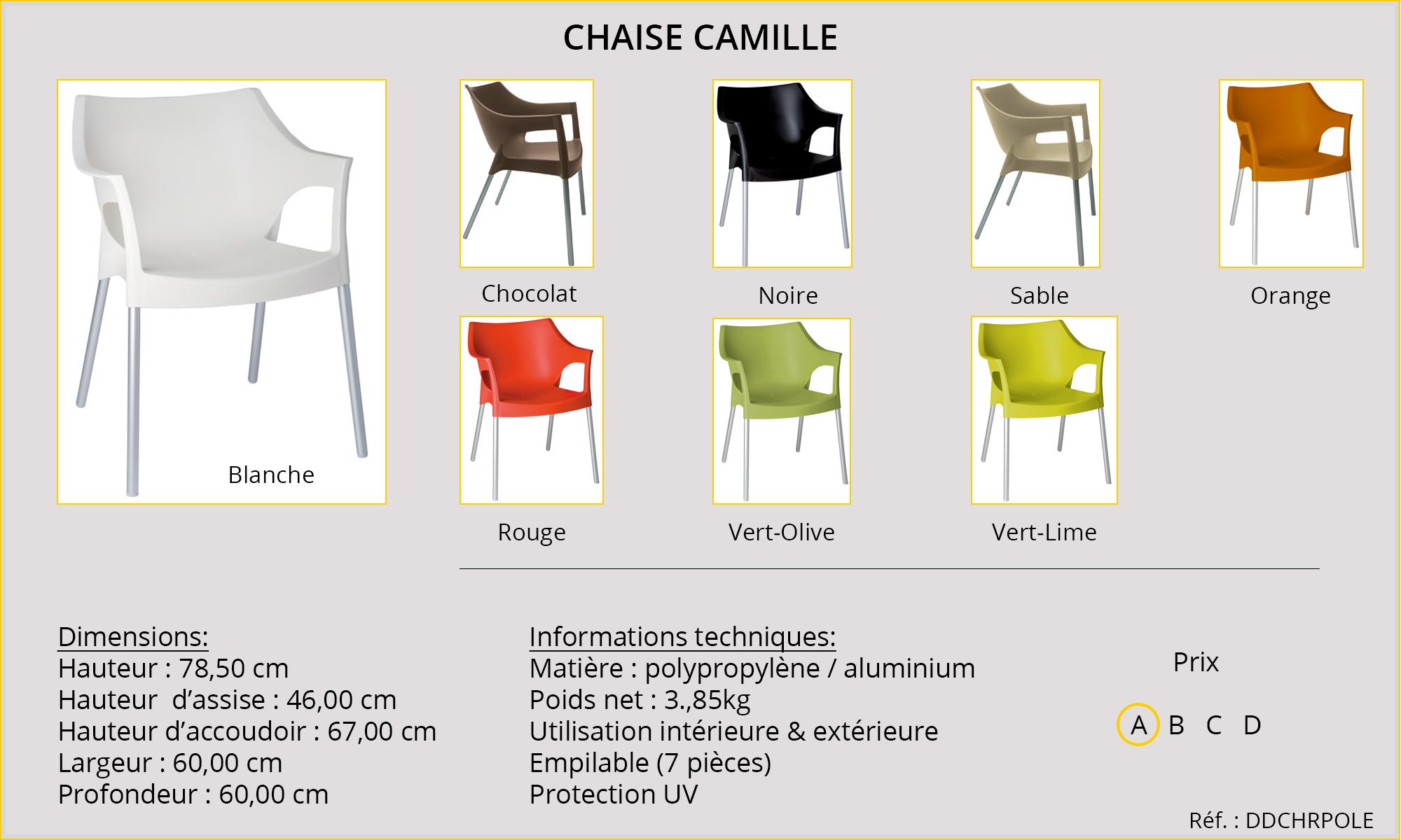 Rideaux HôteRestaurants CHR HORECA chaise Camille