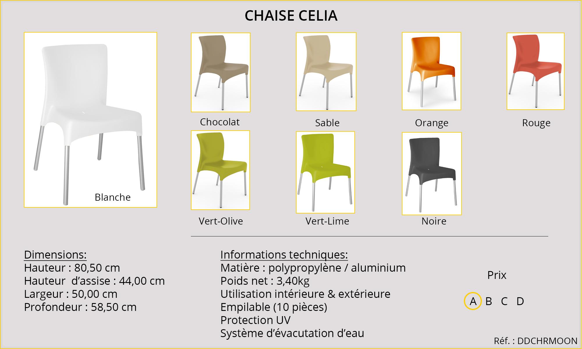 Rideaux HôteRestaurants CHR HORECA chaise Celia