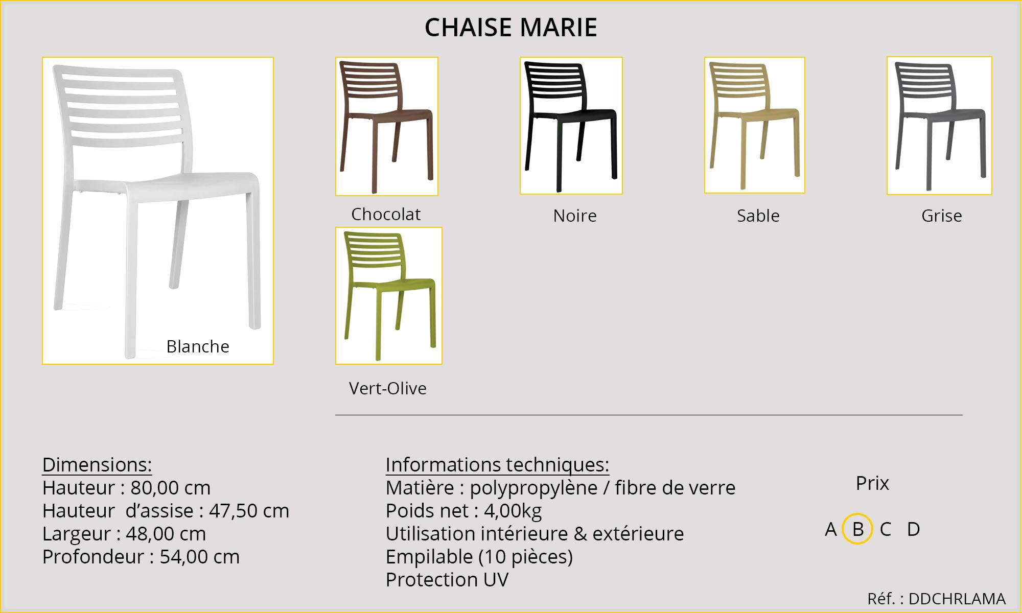 Rideaux HôteRestaurants CHR HORECA chaise Marie