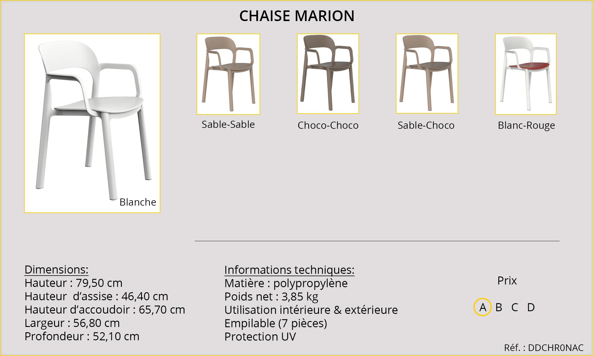 Rideaux HôteRestaurants CHR HORECA chaise Marion
