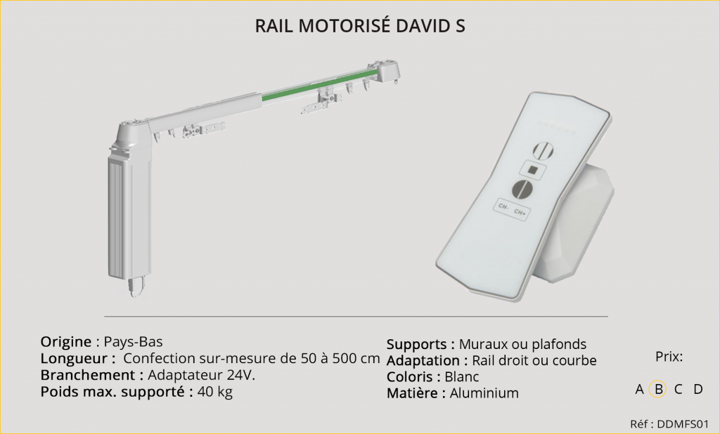 Rail motorisé DAVID S