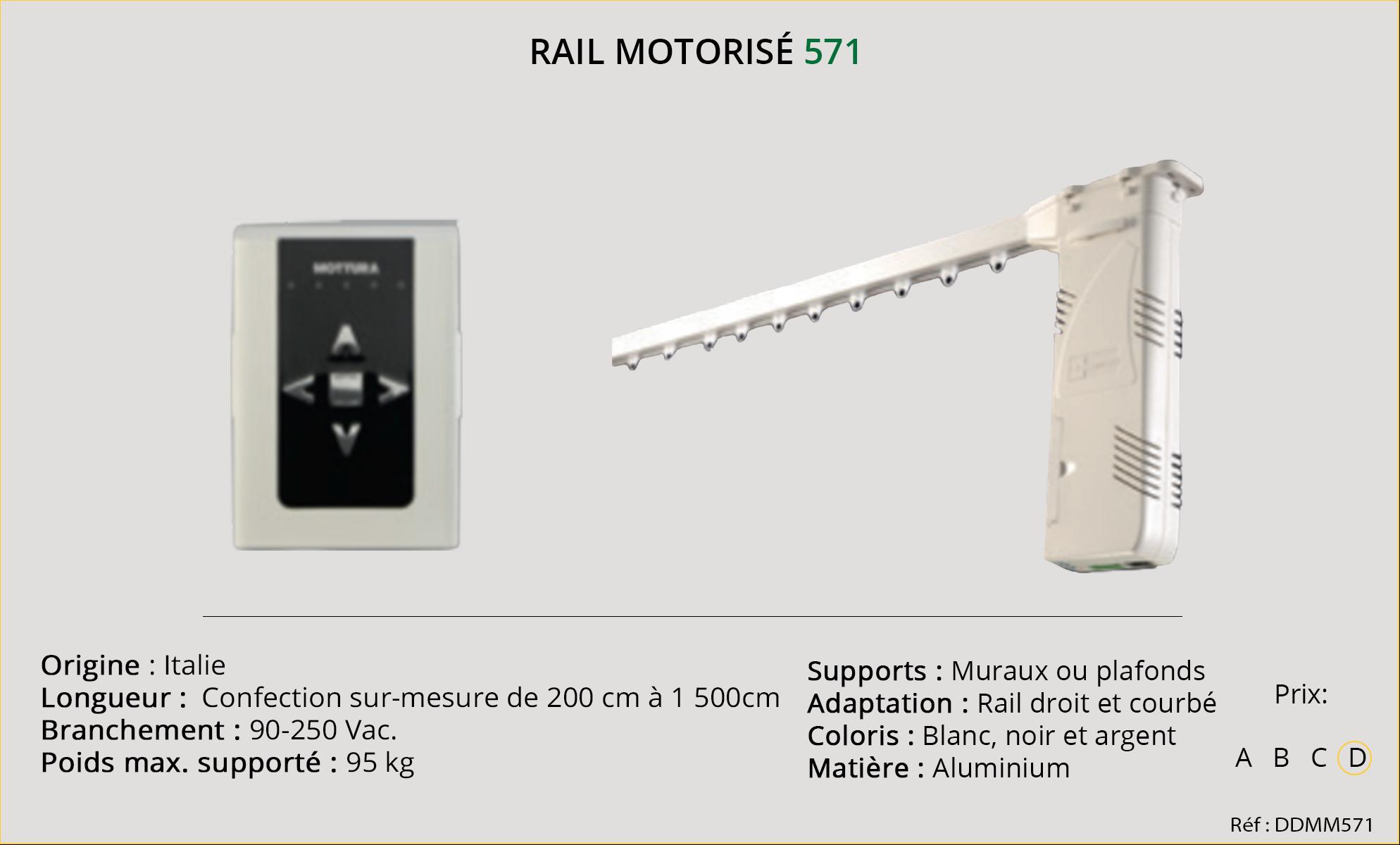 Rail motorisé Mottura - 571
