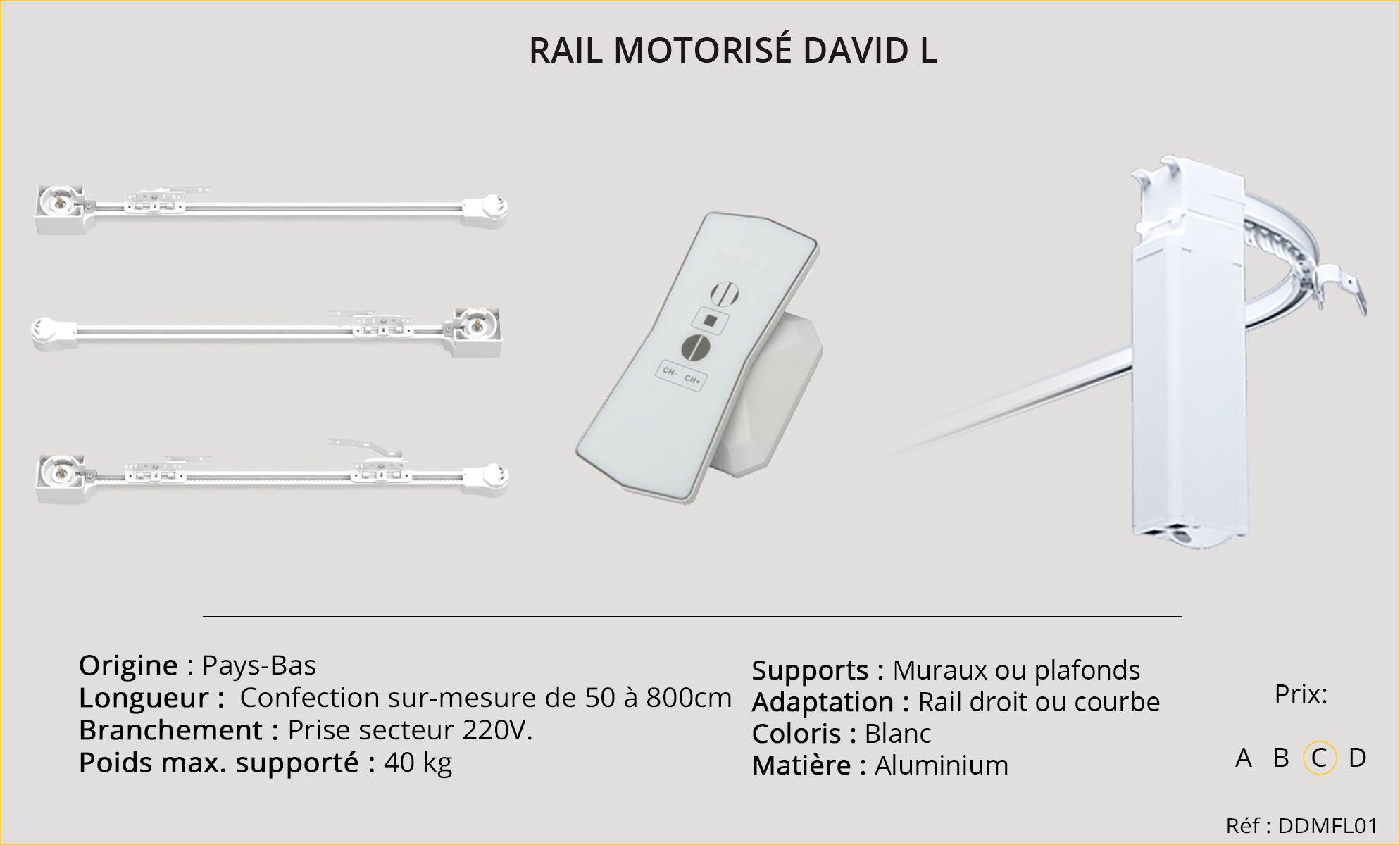 Rails motorisés DAVID-L-
