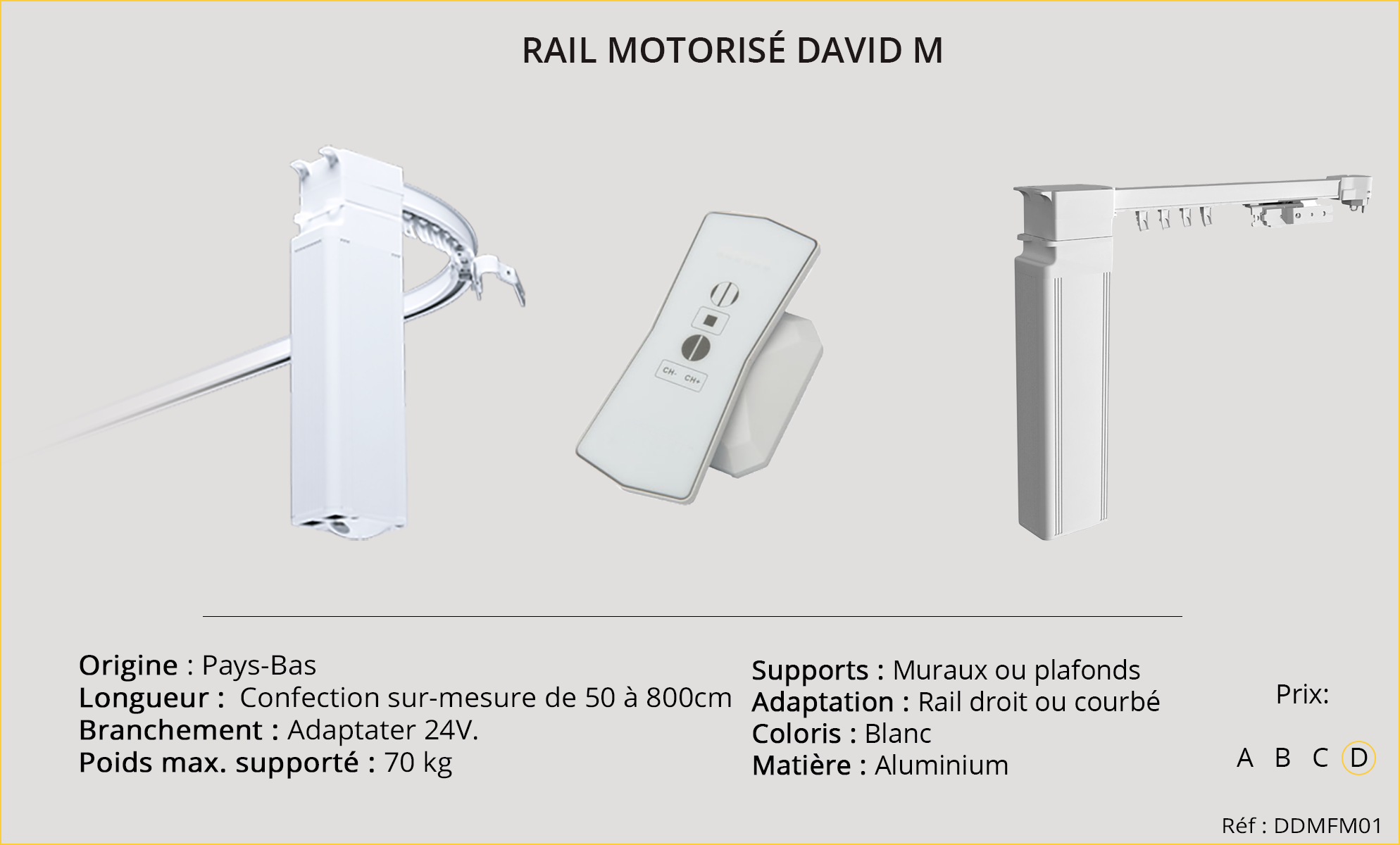 Rails motorisés DAVID-M-