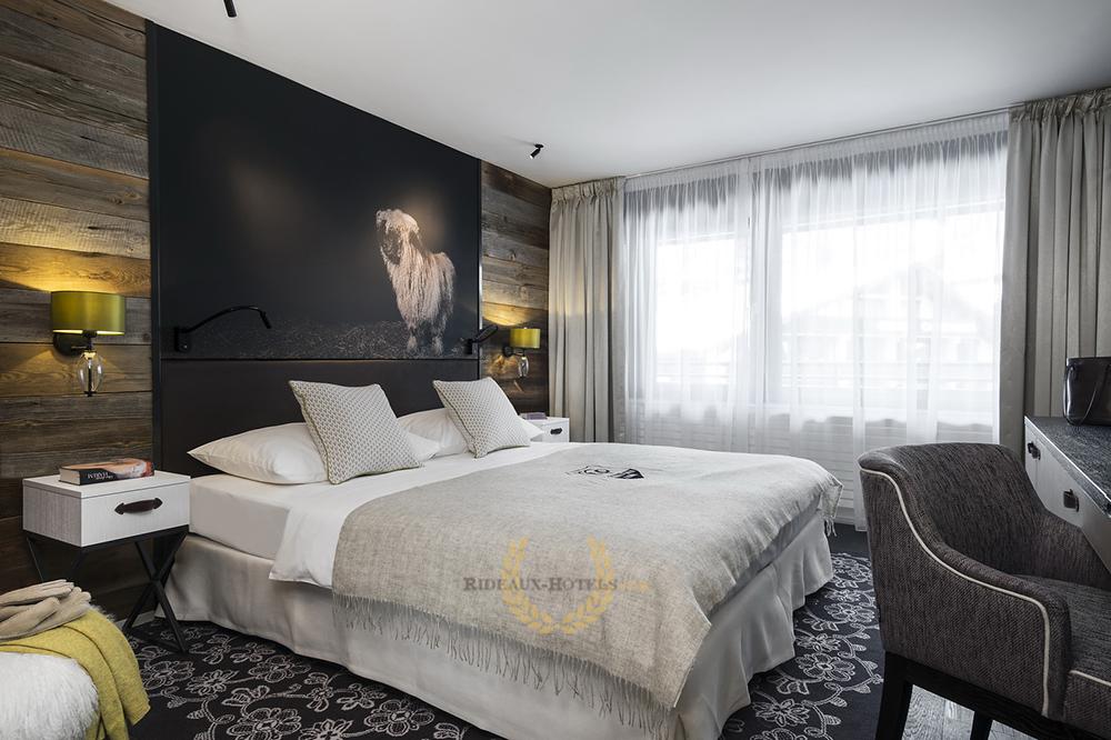 Rideaux Hotels Professionnels Chambre Non Feu M1 Ignifugé Anti-feu
