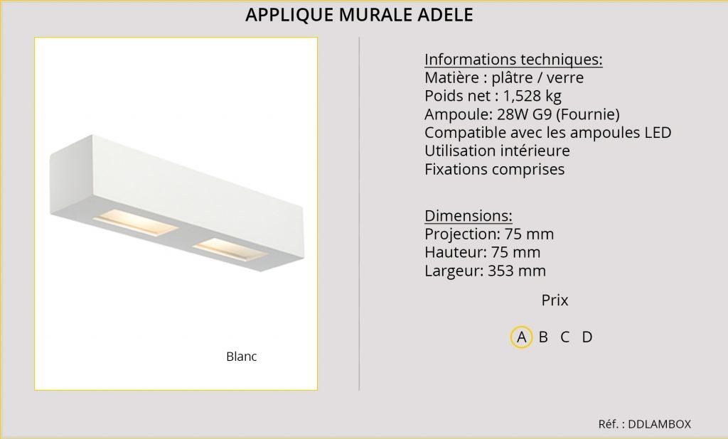 Rideaux-Hotels applique murale Adèle DDLAMBOX