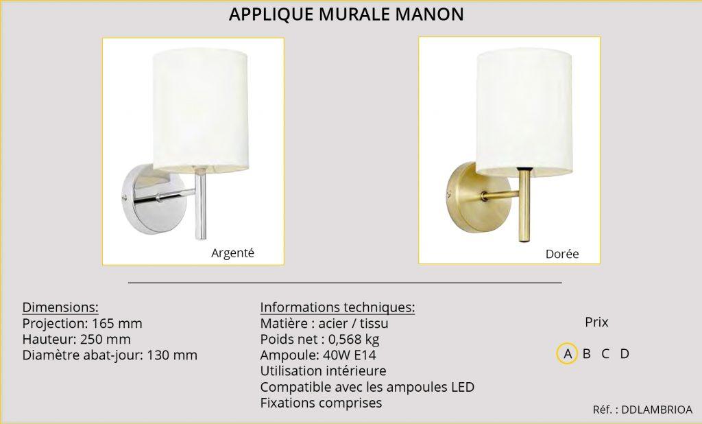 Rideaux-Hotels applique murale Manon DDLAMBRIOA