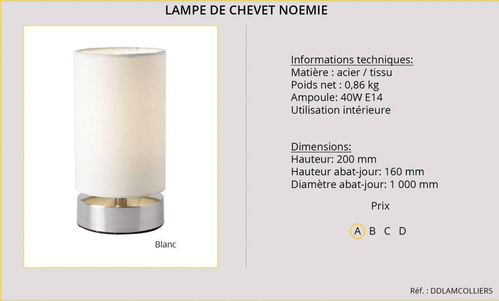 Lampe de chevet Noémie DDLAMCOLLIERS