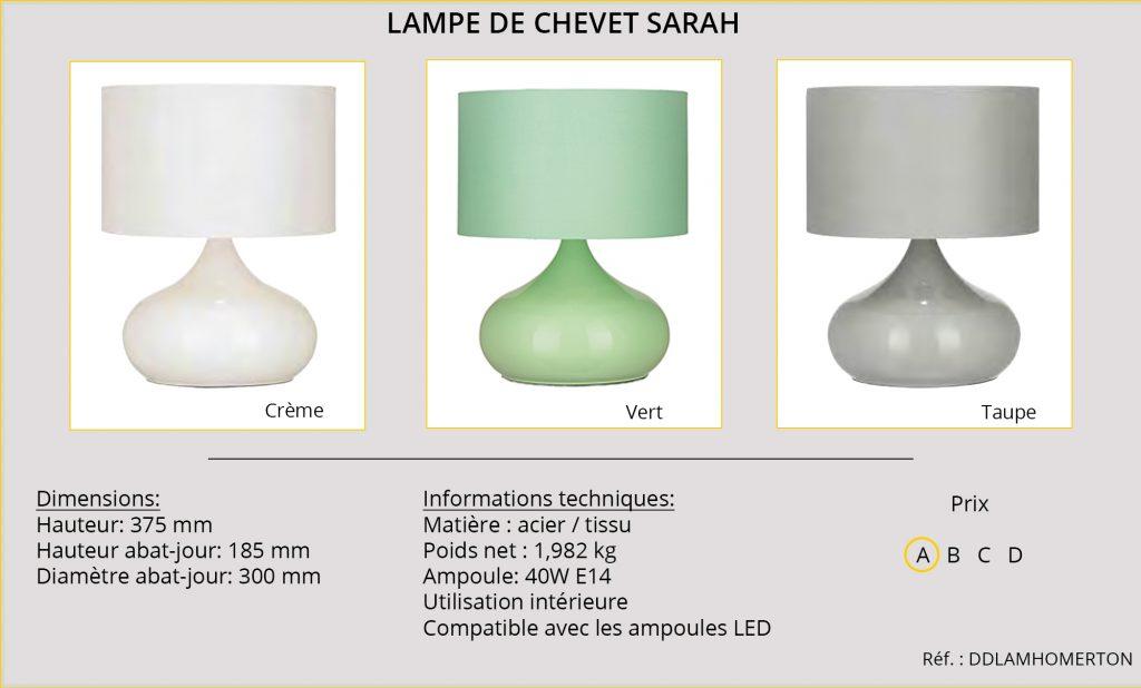 Lampe de chevet Sarah DDLAMHOMERTON
