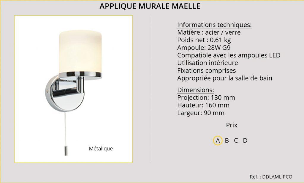 Rideaux-Hotels applique murale Maelle DDLAMLIPCO