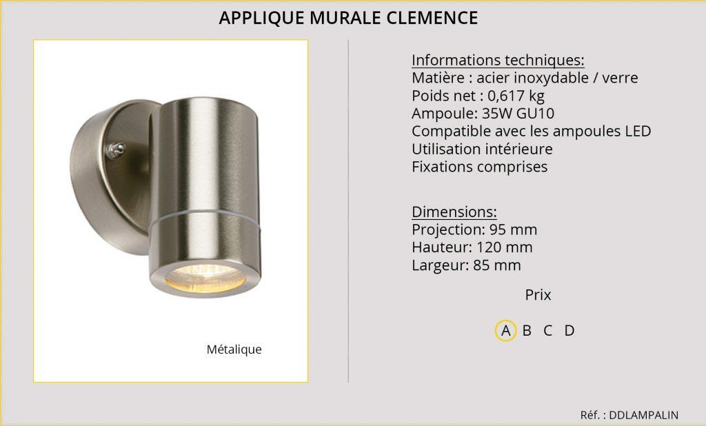 Rideaux-Hotels applique murale Clemence DDLAMPALIN