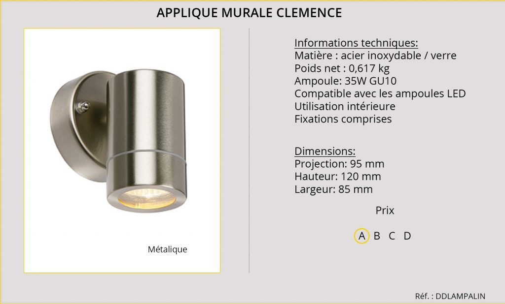 Appliques Murales Rideaux-Hotels Clemence DDLAMPALIN