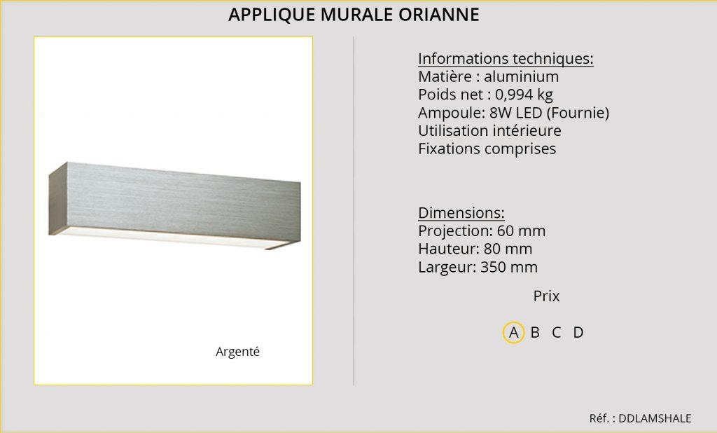 Rideaux-Hotels applique murale Orianne DDLAMSHALE