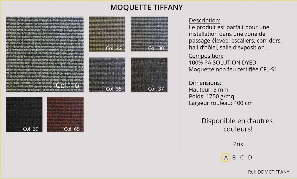 Rideaux-Hotels moquette DDMCTIFFANY