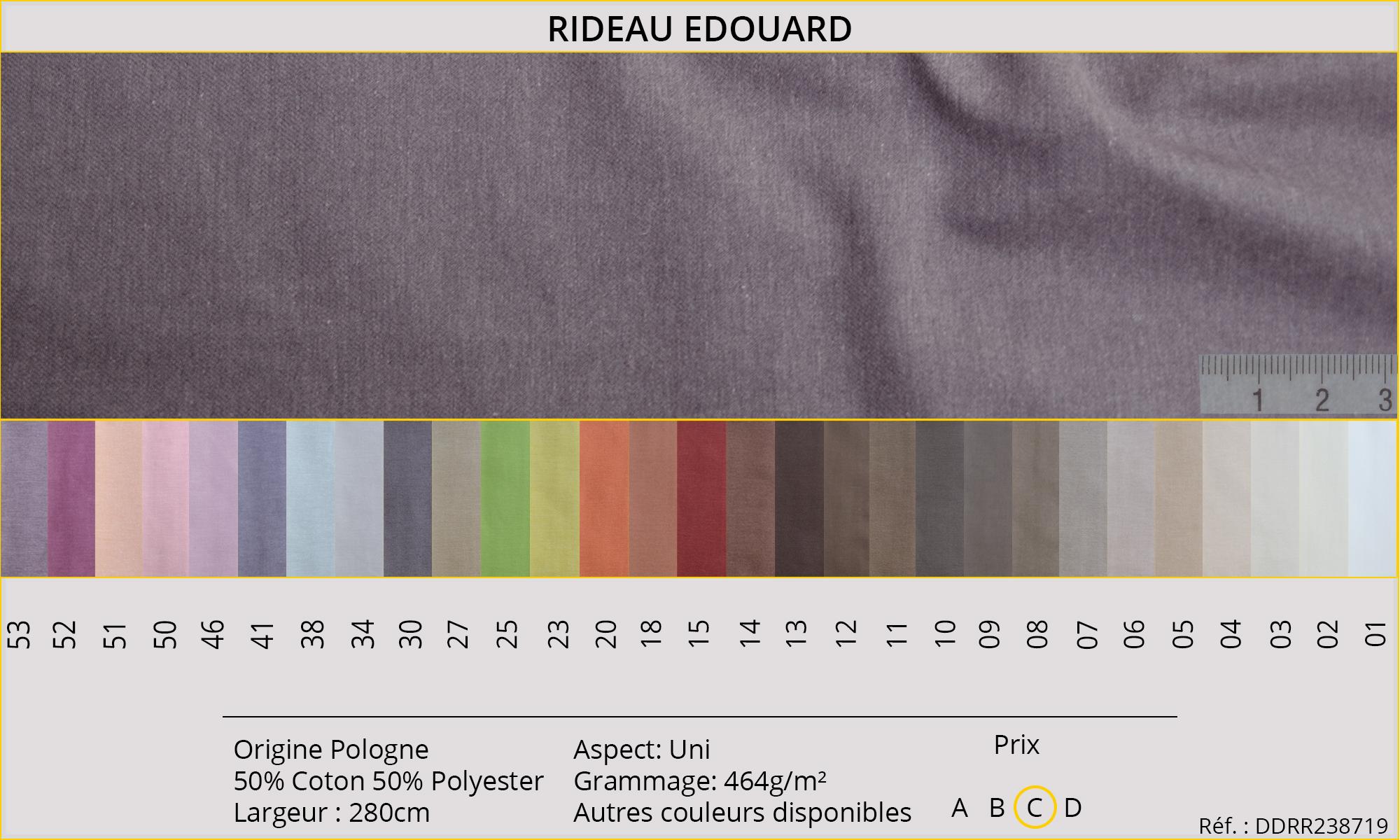 Rideaux-Hôtels Edouard