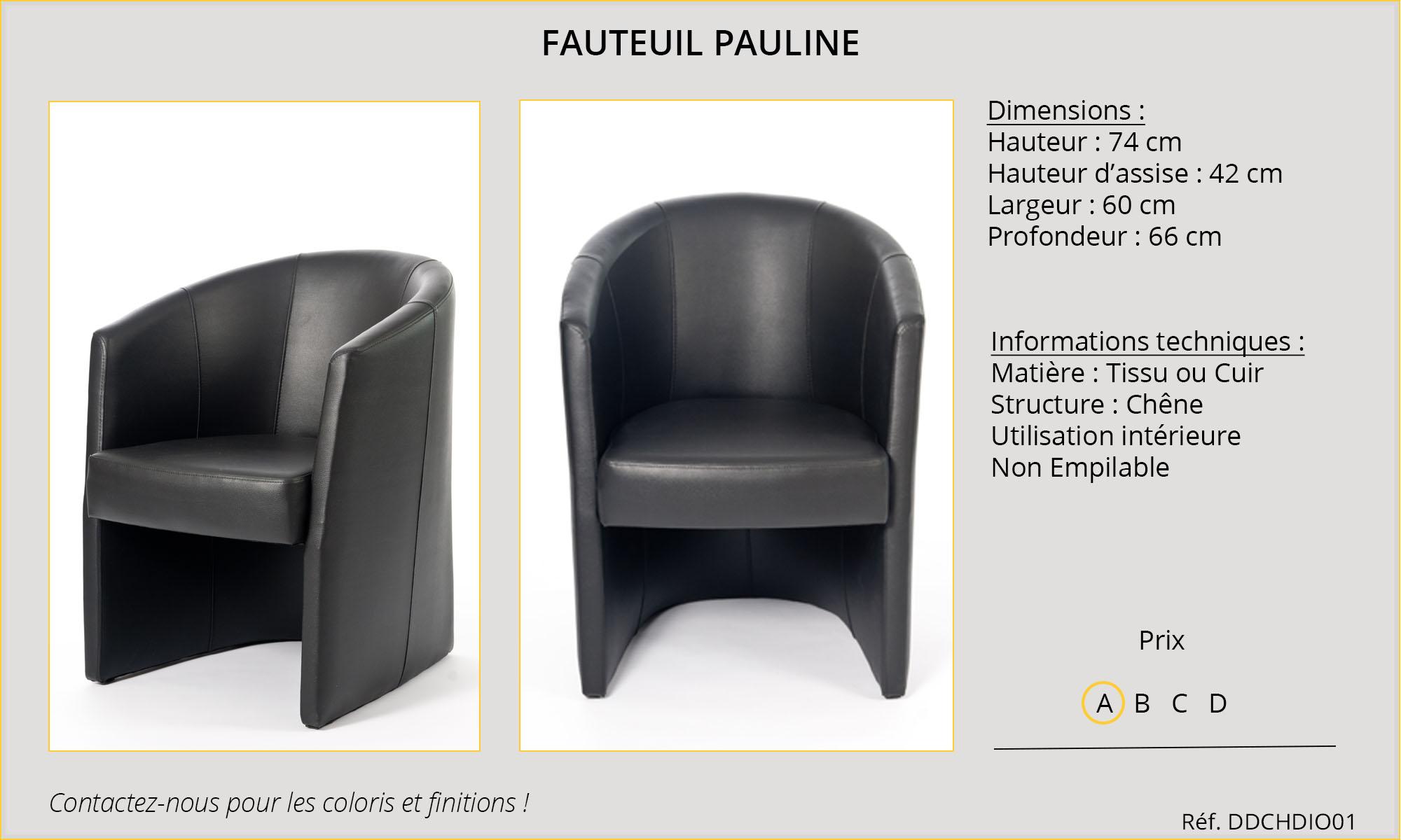 Rideaux Hôtels fauteuil Pauline