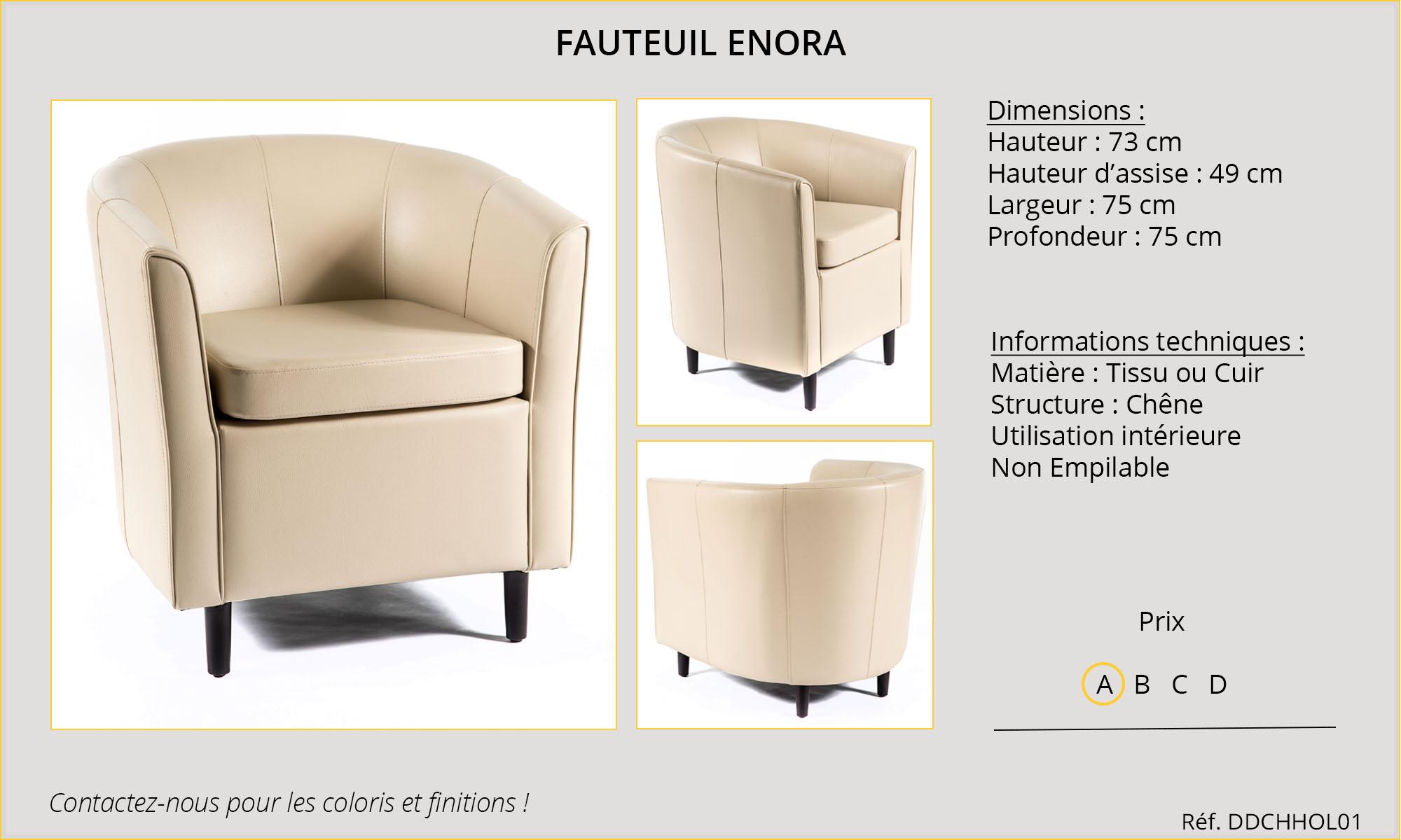 Rideaux HôteRestaurants CHR HORECA fauteuil Enora