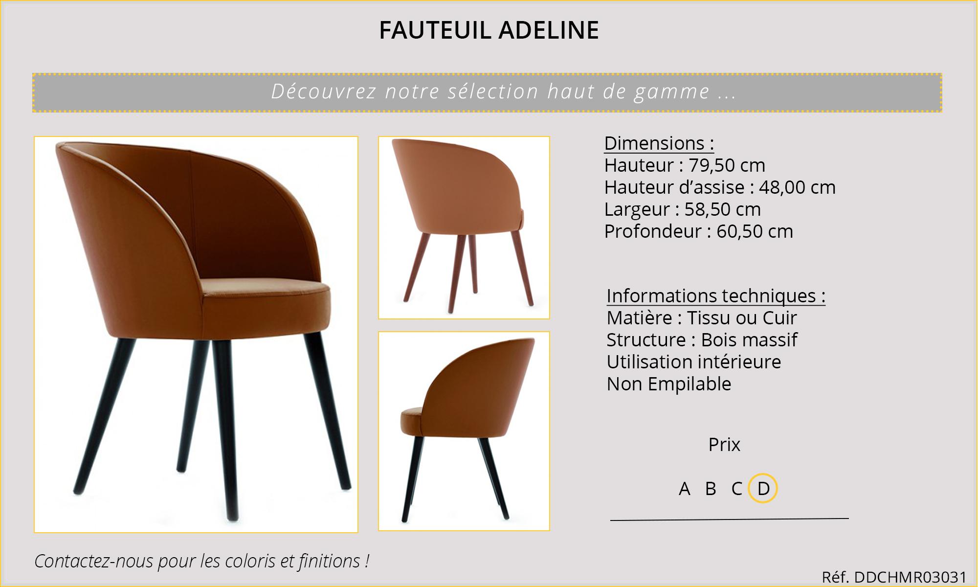 Rideaux HôteRestaurants CHR HORECA chaise Adeline