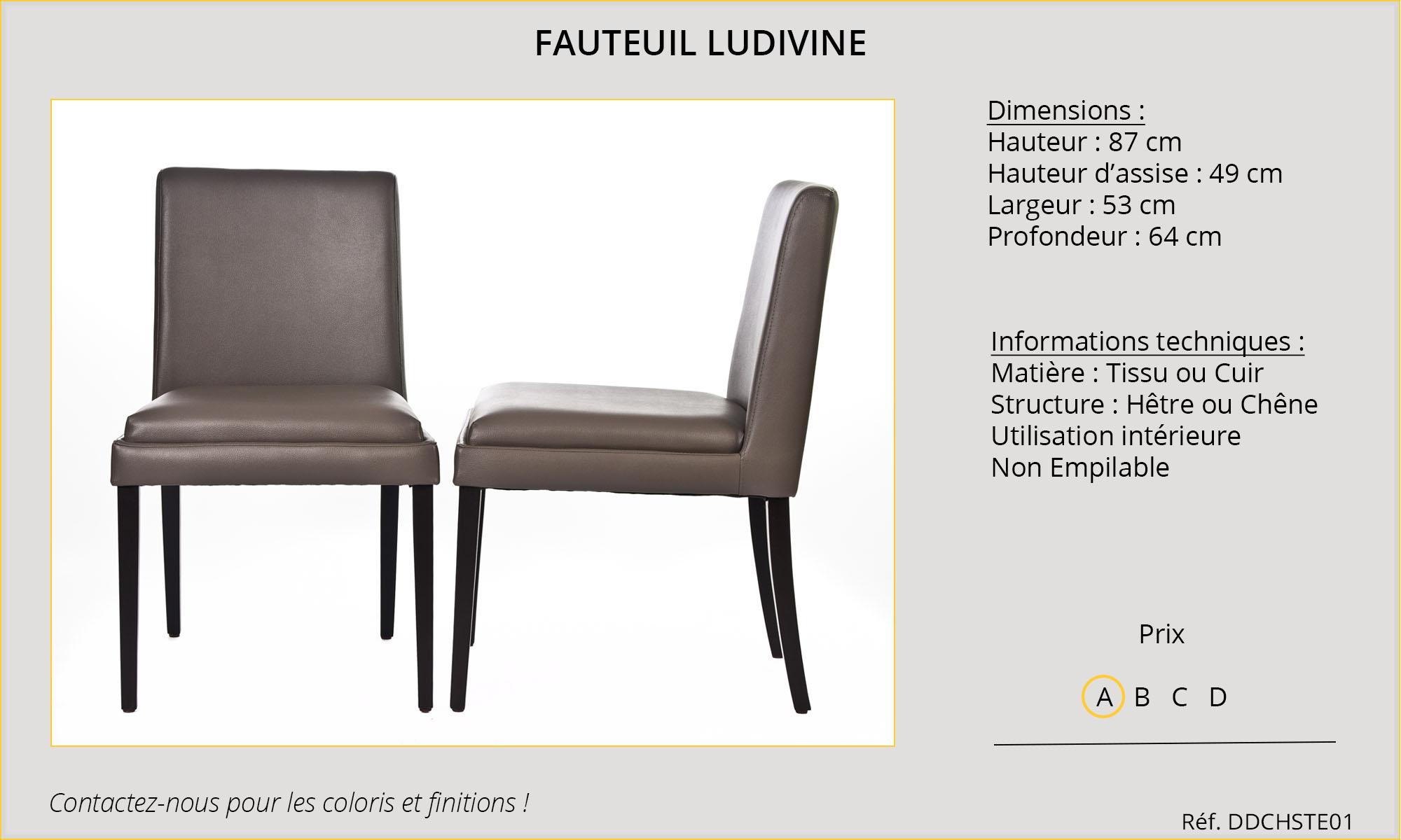 Rideaux HôteRestaurants CHR HORECA fauteuil Ludivine