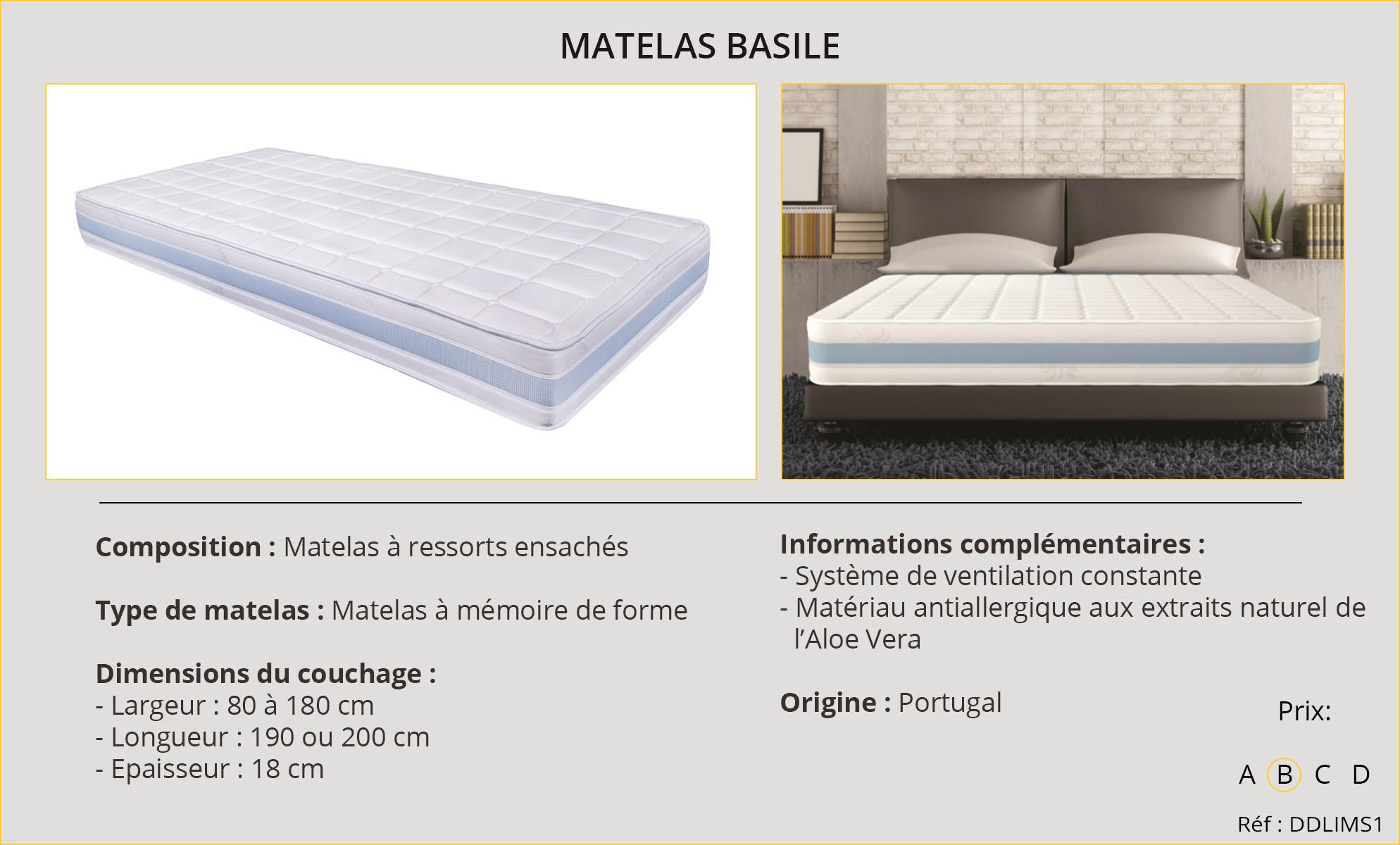 Rideaux-Hôtel Matelas Basile
