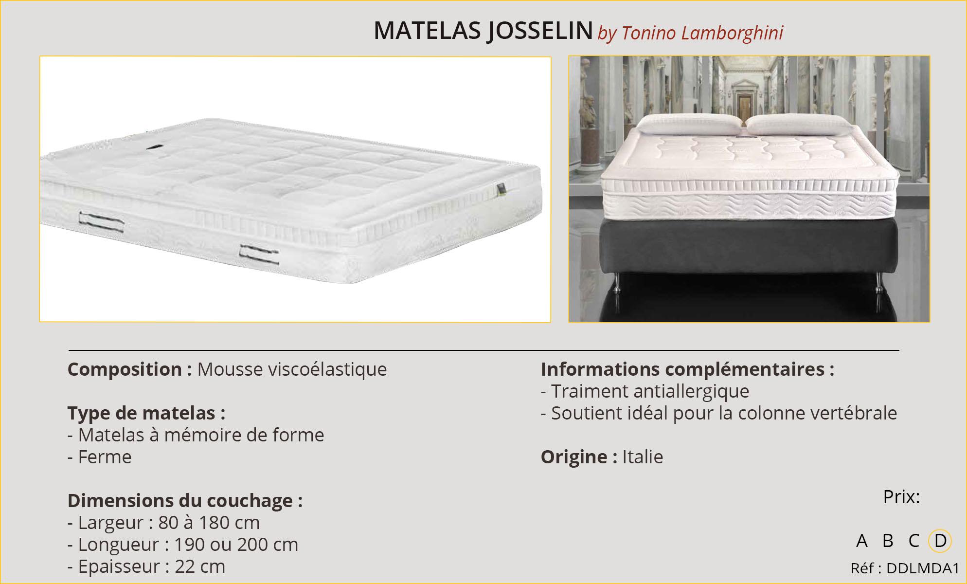Rideaux-Hôtels Matelas Josselin