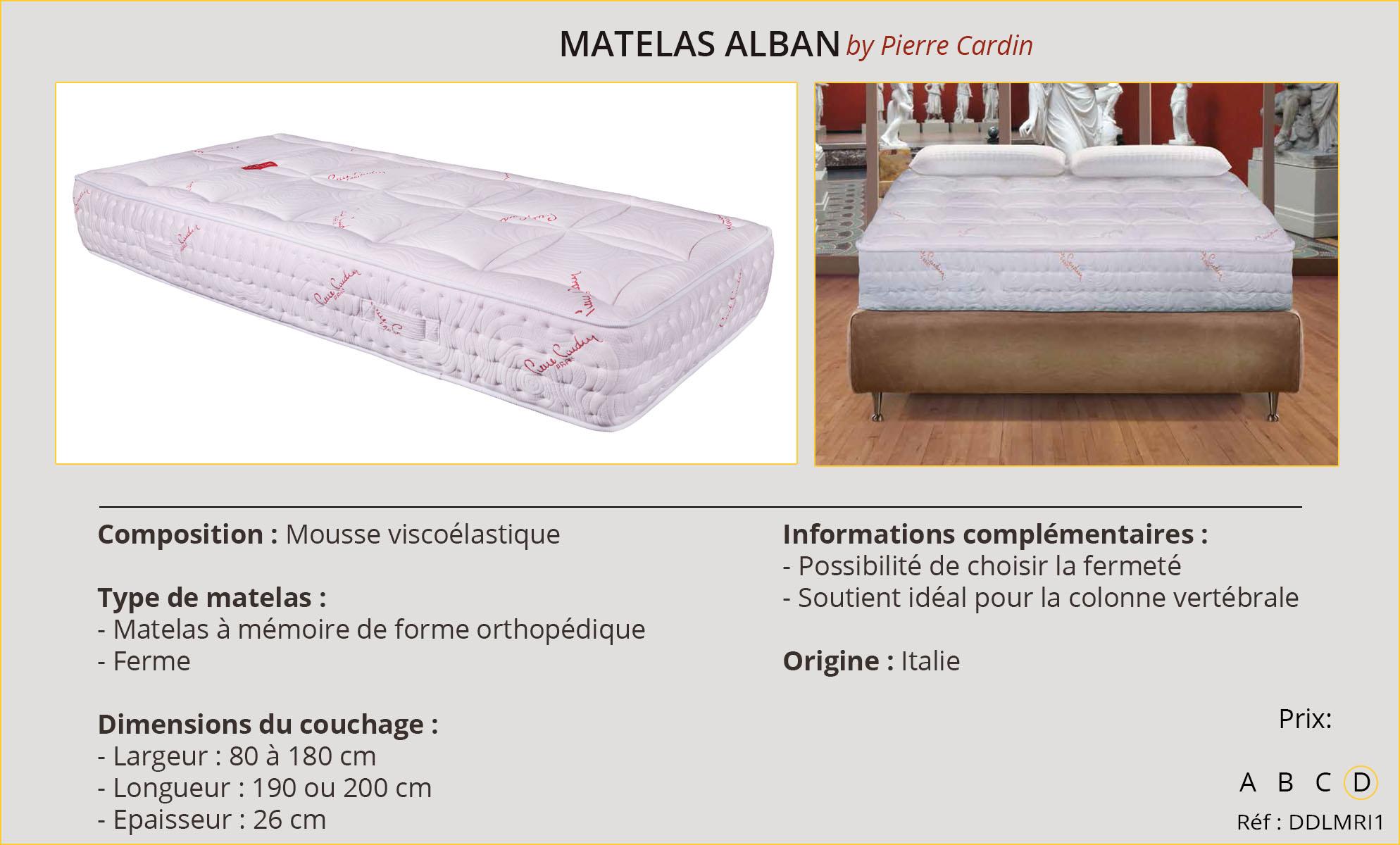Rideaux-Hôtel Matelas Alban