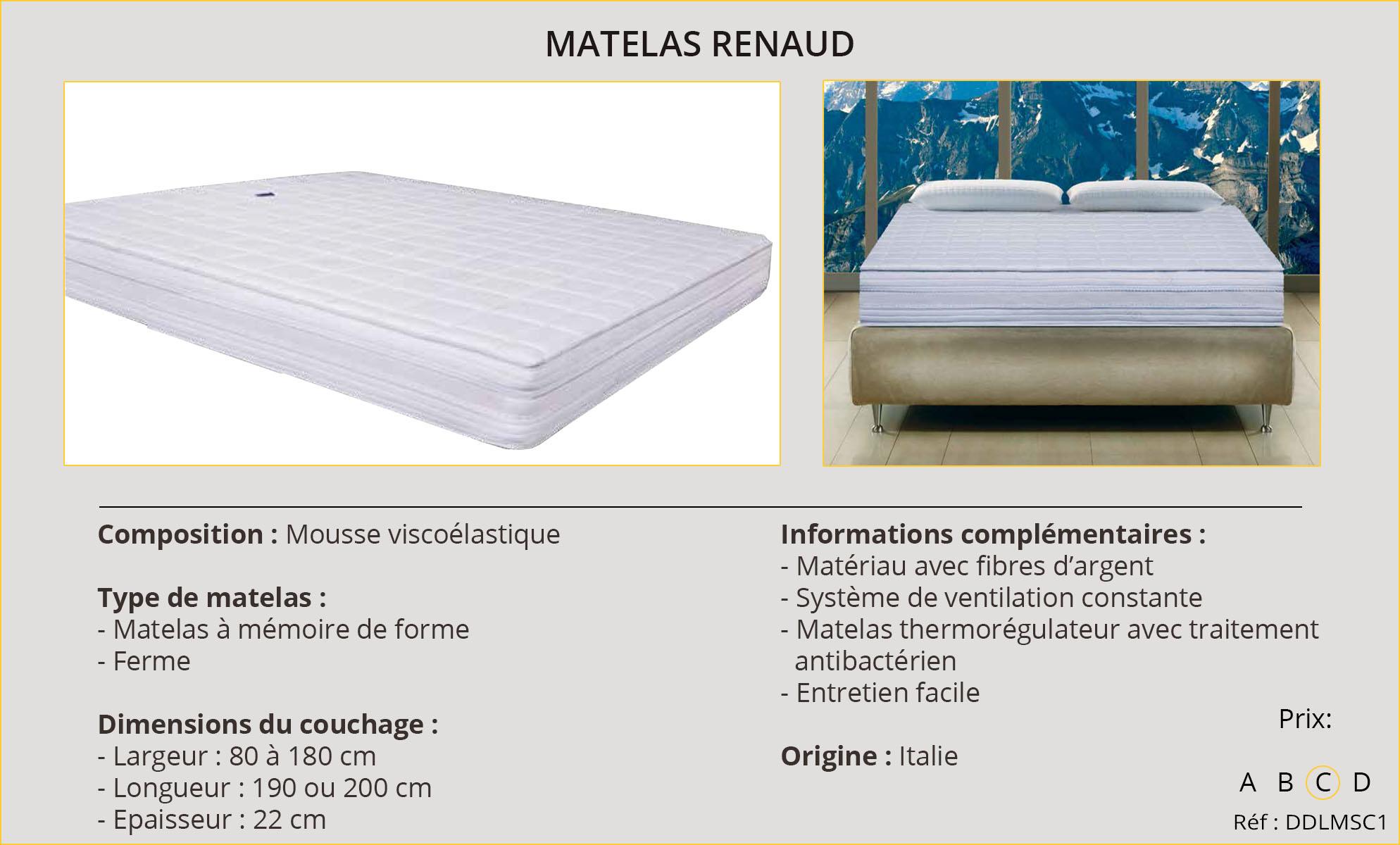 Rideaux-Hôtels Matelas Renaud