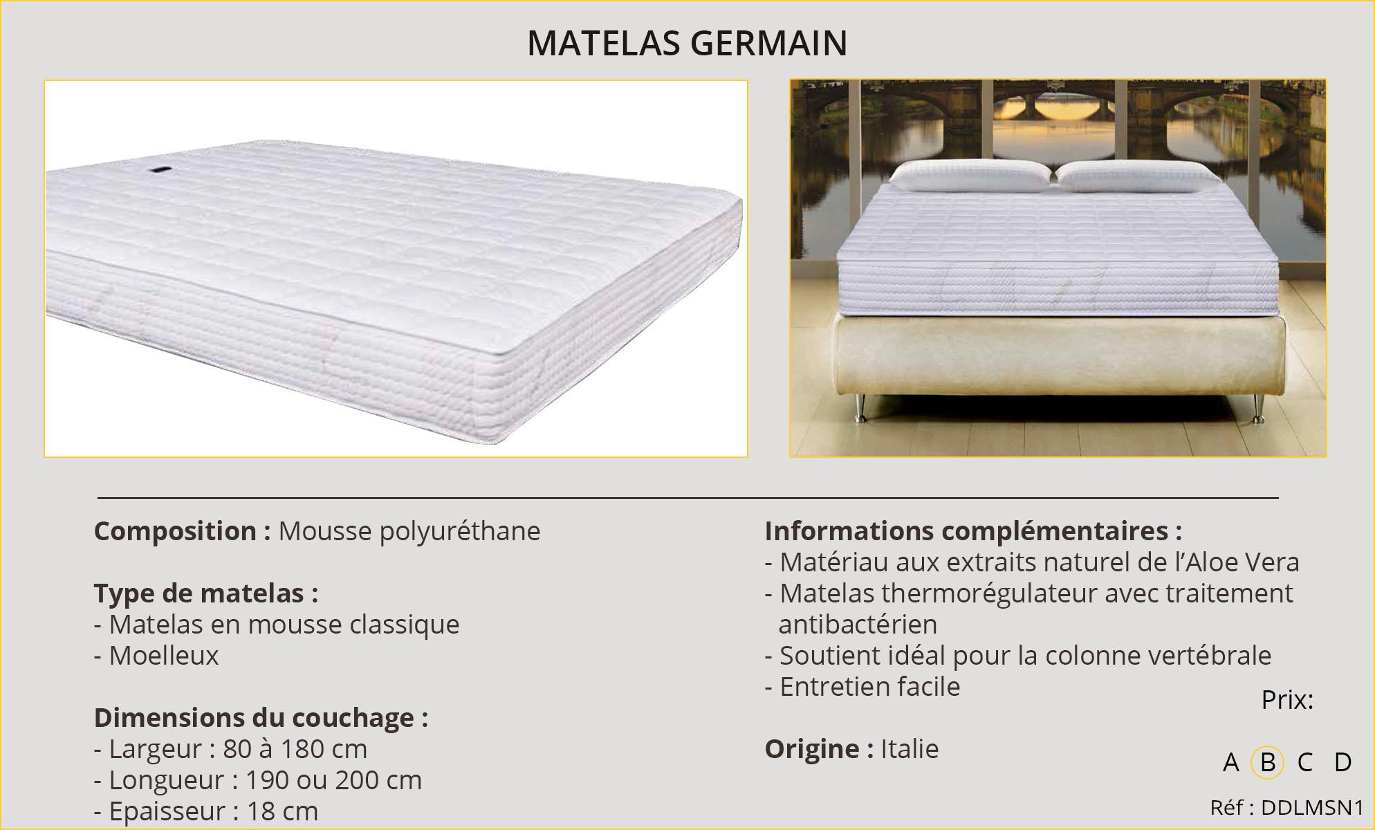 Rideaux-Hôtels Matelas Germain