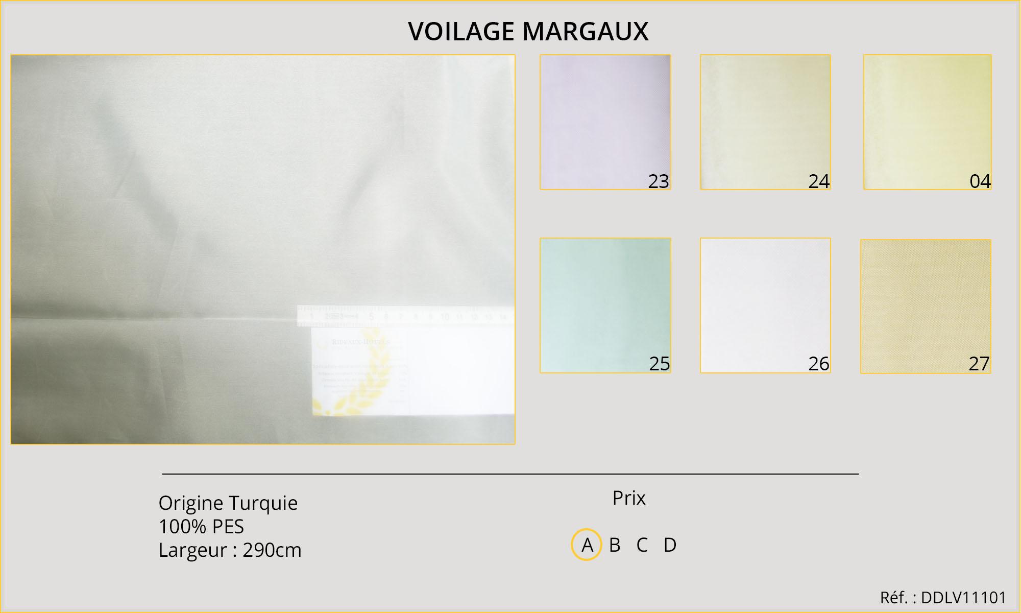 Rideaux-Hôtels Voilage Margaux