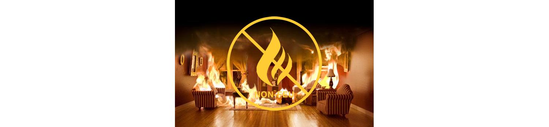 Rideaux Hotels législation non feu M1