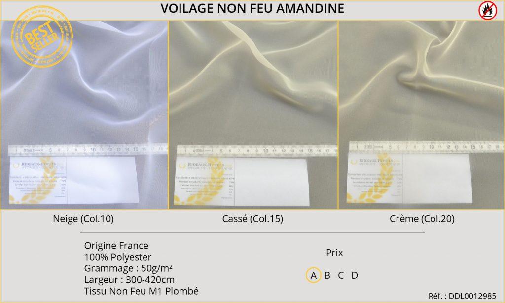 Voilage Non-Feu Amandine DDL0012985-1