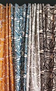 Rideaux occultant à motifs plusieurs coloris