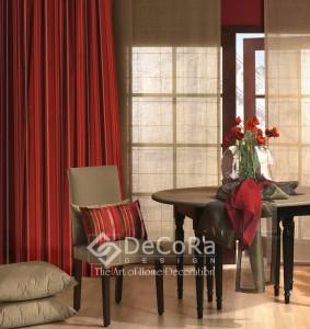 rideaux et voilage unis rouge anti-feu ignifugé