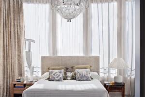 Joli rideaux et voilage classique beige blanc chambre anti-feu ignifugé