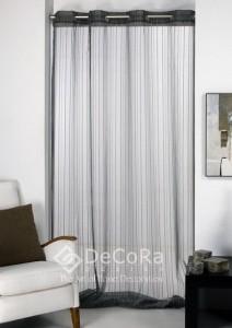Long rideaux anti-feu ignifugé  blanc de porte