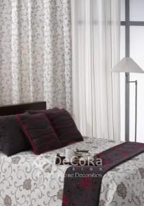 voile et rideaux anti-feu ignifugé assortis au lit