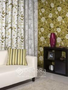 rideaux à motifs coloré anti-feu ignifugé