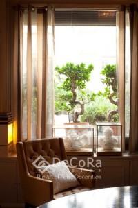 rideau translucide pour chambre d'hotels anti-feu ignifugé