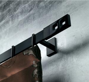 TRH015- Rideaux Hotels Professionnels rails tringles rideaux courbée overlap
