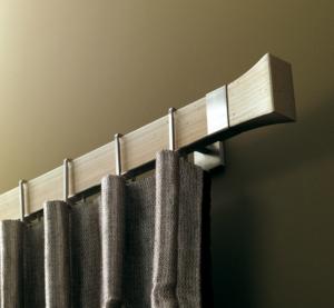 TRH016- Rideaux Hotels Professionnels rails tringles rideaux courbée overlap