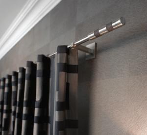 TRH024- Rideaux Hotels Professionnels rails tringles rideaux courbée overlap